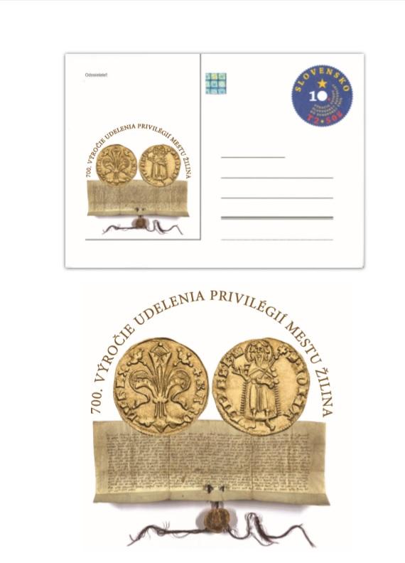 Pred 700 rokmi dostala Žilina najstaršie privilégiá, mesto vydalo  spomienkové mince i obálku - Žilina